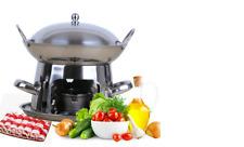 "9"" hot pot set compatible with ethanol gel, good for one person shabushabu"