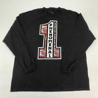 WWE Authentic Phenomenal 1 T Shirt Men's Size XL Long Sleeve Black Crew Neck