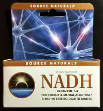 Source Naturals NADH 5 mg 90 tablets Exp 7/21