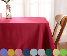 Square Table Cloth Cotton Linen Household Garden Dining Tableware Party Supplies