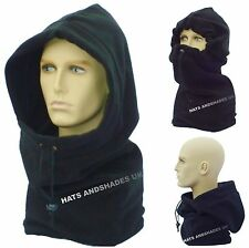 New Warm Fleece Balaclava Black Hat Mens Ladies Winter Hood Neck Warmer Snood