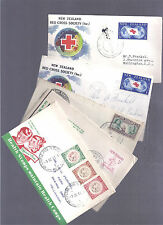 NZ NEW ZEALAND 1940 - 1959 SPEC CACHET 5 COVERS INC HEALTH + RED CROSS