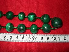 Wunderschöne vintage Halskette aus Malachit  L 83 cm., 193 Gr Gewicht.