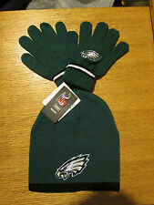 PHILADELPHIA EAGLES YOUTH SIZE REEBOK STOCKING CAP AND GLOVES