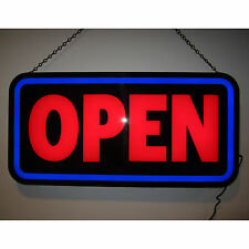 Big New Led Open sign for business rectangle for window or wall opti neon lamp
