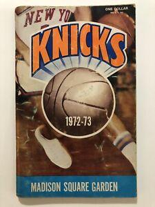 New York Knicks 1972-73 Media Guide Madison Square Garden NBA Champions