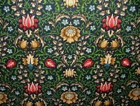Winslow Jewel Cotton Curtain Upholstery Quilting Fabric William Morris Style