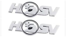 HSV badges x 2 emblems logo Side Skirt/Boot Lid Badge Chrome Holden