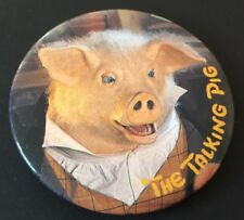 Vintage Badge Talking Pig Lloyd's Bank Tales of the Black Horse 5.5cm Pin B28