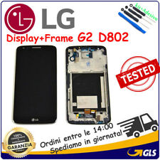 DISPLAY  LCD +TOUCH SCREEN + FRAME PER LG G2 OPTIMUS D802  NERO