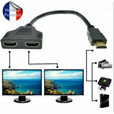 Adaptateur Multiprise hdmi switch HDMI Mâle vers Double HDMI Femelle
