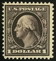 #342 Mint OG NH, 1909 $1 Washington Regular Issue, (Read)-copy of PF Certificate