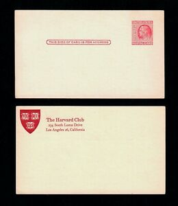 Vintage Harvard Club USPS 1951 2c Benjamin Franklin Postal Card Scott UX38