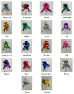 Pull Bows 50/30 mm Ribbon Wedding Gift Flower Birthday Decoration Gift Wrap