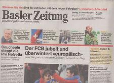 Newspaper Basler Zeitung FC Basel v Feyenoord Rotterdam 17-04-2004 UEFA Cup