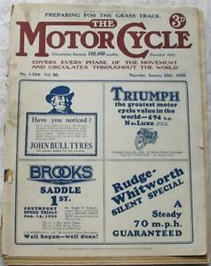 Motor Cycle 26 Jan 1928 Motorcycle Magazine Excelsior 250 test South African TT