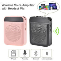 Portable Voice Amplifier with Mic Headphone  Speaker for Teachers Tour Guides