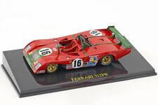 Ferrari 312 PB #16 2nd 24h LeMans 1973 Merzario, Pace mit Vitrine 1:43 Altaya