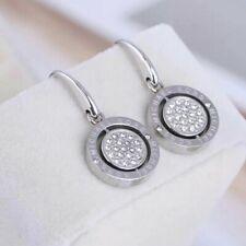 Michael Kors Silver Tone Two Side Crystal Earrings
