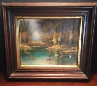 Original Oil Signed Sheffell  Framed 12X15