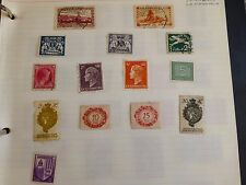 Sheet of 14 vintage Luxembourg, Lichtenstein, Saar and Danzig stamps