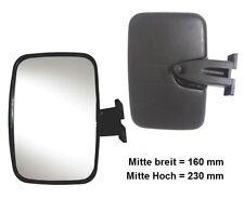 Außenspiegel Rampenspiegel LKW Bordsteinspiegel 235x155 R300° Universal Beheizt