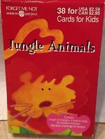 Vintage 1990 Valentines Cards For Kids American Greetings Jungle Animals