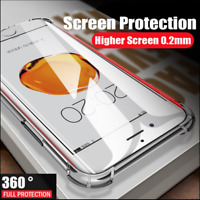 Ultra Slim Shockproof Bumper Clear Case Tempered Glass Cover for Apple iPhone 11