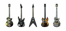 Five Famous Metal Guitars Greeting Card, DL size
