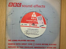 """BBC Sound Effects 7"""" Record - Doors, Heavy & Large, Hanger Doors & Hooter, Foley"""