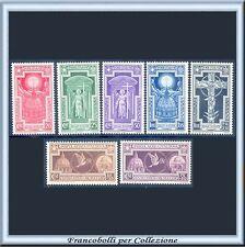 1933 Italia Regno Anno Santo n. 345/349 + A 54/55 Centrati Nuovi Integri **