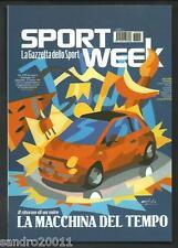 Fiat 500 - Disegno di Nespolo - cartolina pubblicitaria