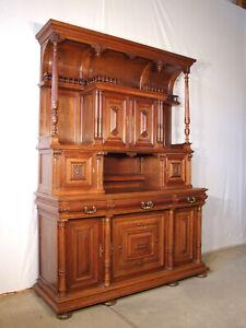 EF1046 UNIKAT Prunkvolles Gründerzeit Buffet Schrank  aus Nussbaum um 1890