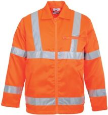 Portwest RT40 orange hi-vis reflective poly-cotton jacket