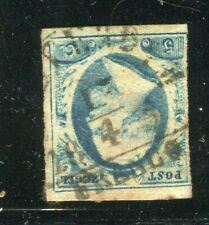 NETHERLANDS; 1850s early classic William issue Imperf 5c. fine early POSTMARK