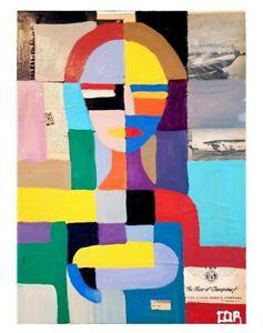 CORBELLIC LARGE NATIVE CUBISM VINTAGE CONTEMPORARY FINE ART EXPRESSIONISM DECOR