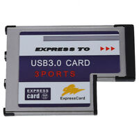 3 Port USB 3.0 Express Card 54mm PCMCIA Express Card for Laptop NEW DT