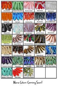 Dagger Czech Glass Beads 16mm 25 Choose Color