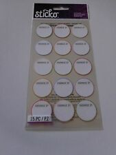 Scrapbooking Stickers Sticko Crafts Handmade By Round Circle Labels You Write On