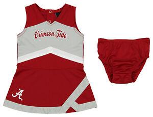 Outerstuff NCAA Infant Girls Alabama Crimson Tide 2 Piece Cheer Jumper Dress
