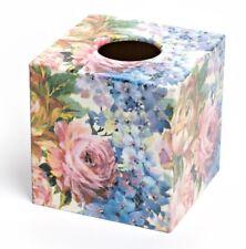 Summer Flowers Tissue Box Cover wooden handmade UK