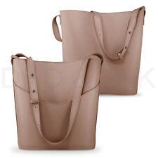Women Leather Bucket Tote Shoulder Bag Fashion Handbag Purse with Small Bag