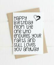 Funny birthday Card for him husband boyfriend