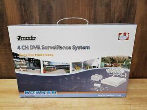 Zmodo 4 channel DVR  Security Cameras Surveillance Color Video