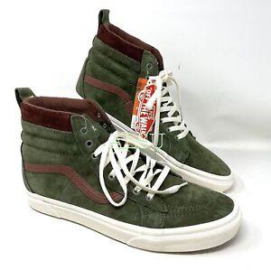 VANS SK8-HI MTE Deep Green Suede Men's All Sizes Sneakers Boot Size VN0A4BV7V40