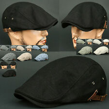 Newsboy Beret KTJ BLACK Flat Cap Cabbie Gatsby Golf Hunting Driving Hat Unisex