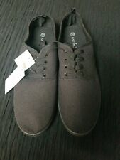 Just Be Womens black Canvas footwear  Size 10