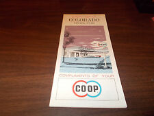 1964 Co-Op Colorado/Nevada/Utah Vintage Road Map