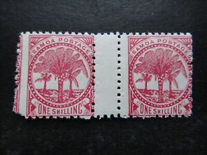 GB UK British Colonies 1886 - 1900 Stamps MNH ERROR Samoa Palms Tree 1 Shilling