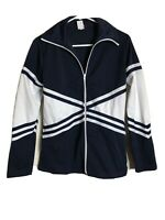 Chasse Cheer Jacket Adult Med Blue White Full Zip Track Vintage Costume Cosplay